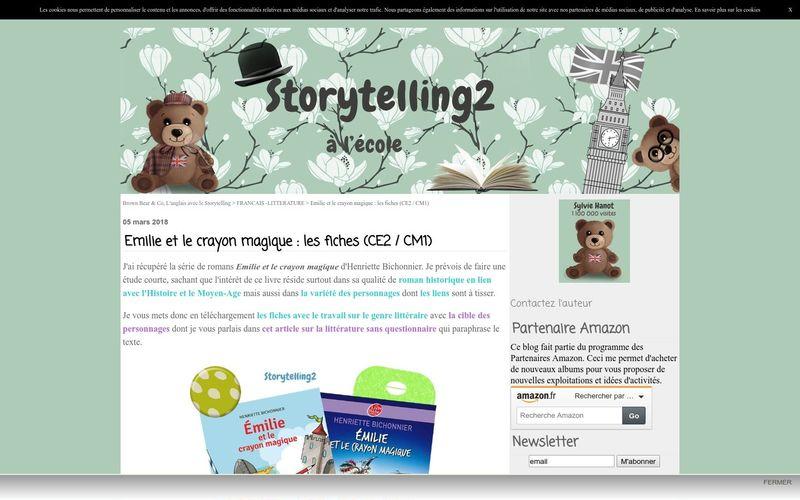 Emilie et le crayon magique : les fiches (CE2 / CM1) - Brown Bear & Co, L'anglais avec le Storytelling