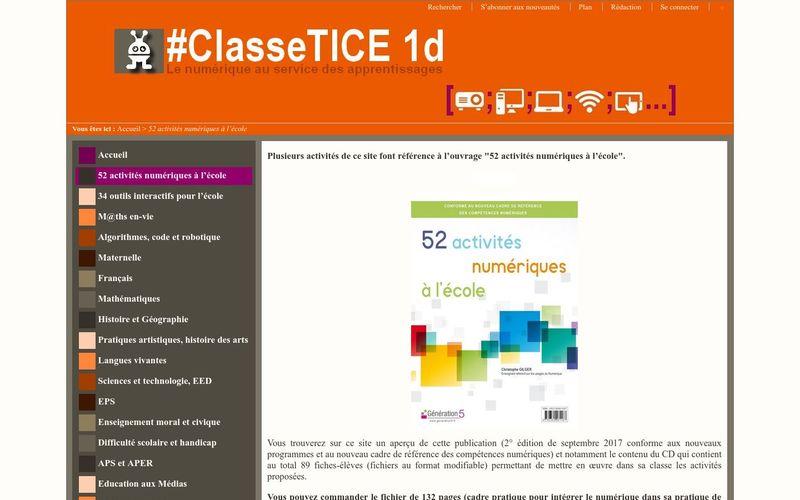#ClasseTICE - 52 activités numériques à l?école